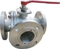 Picture of CF8M Flanged T Port  Full Port Ball Valve ANSI 150