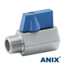 Picture of ANIX Stainless Steel Mini Ball Valve Male-Male / Male-Female / Female-Female Threaded NPT