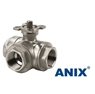 Picture of ANIX Stainless Steel 3-Way Ball Valve 1000 WOG  Threaded NPT