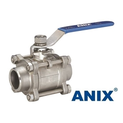 Picture of ANIX 3-Piece Full Port Butt Weld Ball Valve 1000 WOG
