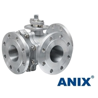 Picture of ANIX Stainless Steel  3-Way Ball Valve Class 150 Flanged