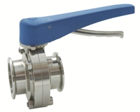 Picture of ANIX Sanitary Butterfly Valve - Clamp End / Trigger Handle